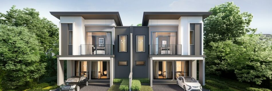 Introducing a 2-storey twin house for free