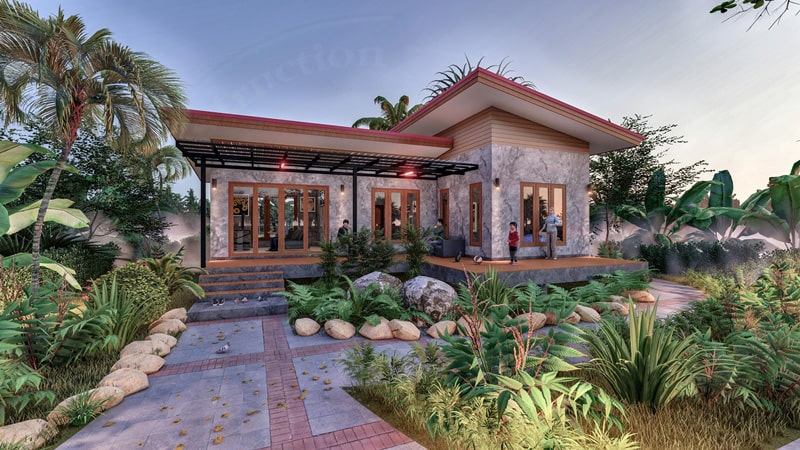 modern garden house design